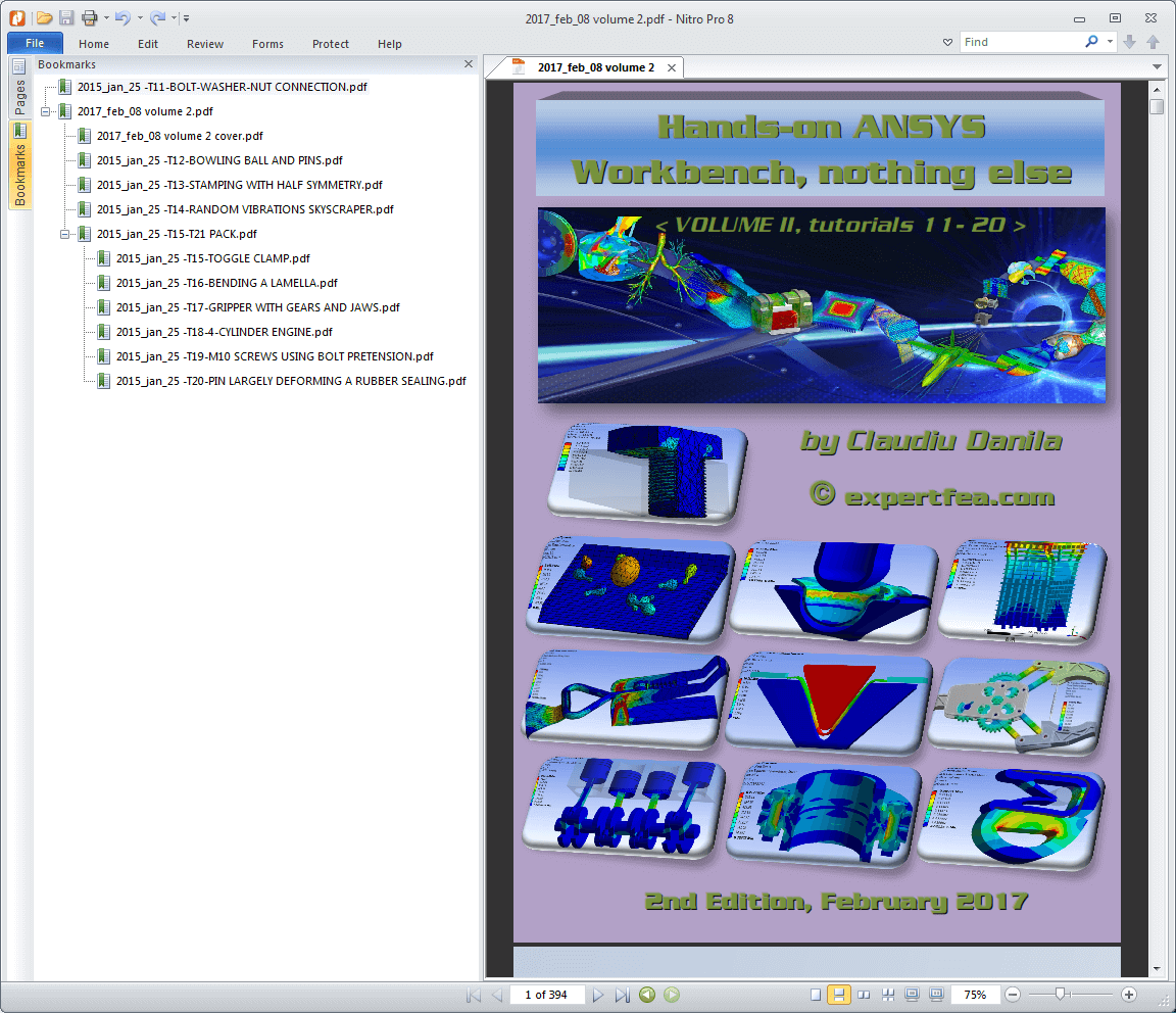 Best ANSYS Workbench tutorials and solved FEA!